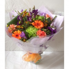 Autumn Purple Rain Hand Tied