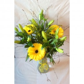 Yellow Lily Vase