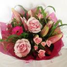 Scented Lily & Rose Handtied Bouquet