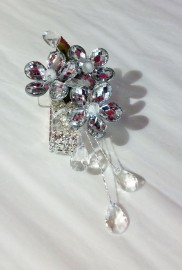 Crystal Flower Prom Corsage