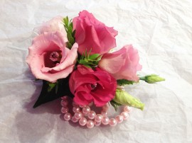 Lissianthus Pearl Prom Corsage