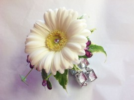 Jewelled Gerbera Prom Corsage