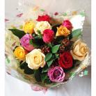 Autumn Romance Rose Hand Tied