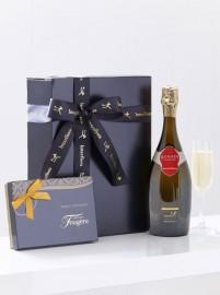 Premium Champagne and Chocolates
