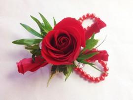 Dramatic Rose Prom Corsage