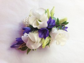 Lissianthus and Brodea Prom Corsage